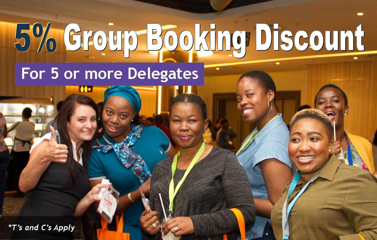 PACSA Group Booking Discount